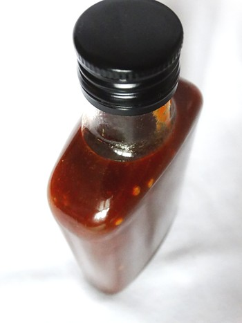 Extra hot dark chilli sauce
